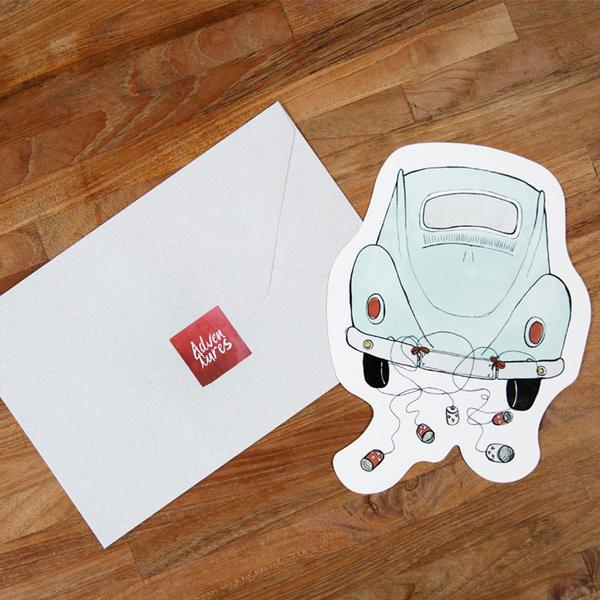 The Gift Label Cut Out Cards Car 3