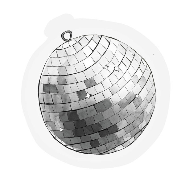 The Gift Label Cut Out Cards Disco Ball