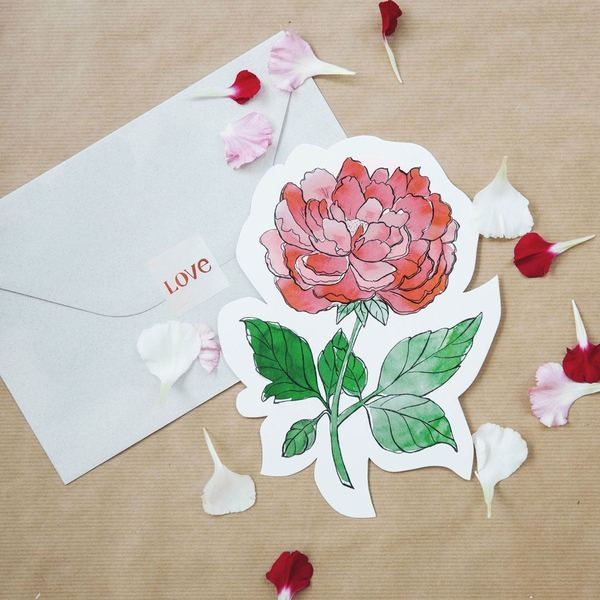 The Gift Label Cut Out Cards Flower 3