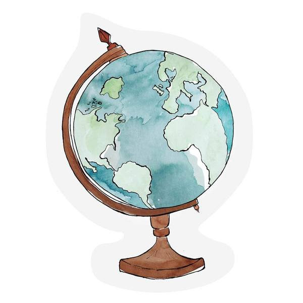 The Gift Label Cut Out Cards Globe