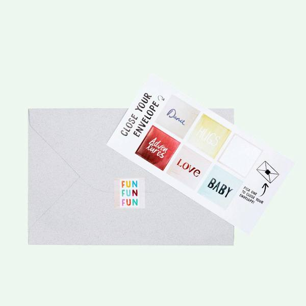The Gift Label Cut Out Cards Kiss 2
