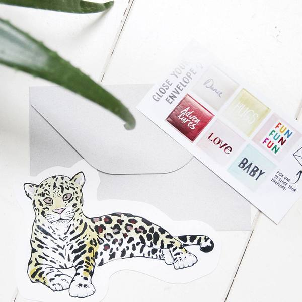 The Gift Label Cut Out Cards Leopard 3