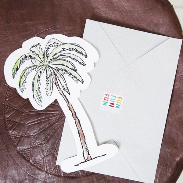 The Gift Label Cut Out Cards Palm Tree 3