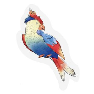 The Gift Label Cut Out Cards Parrot