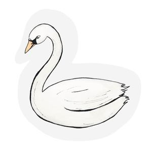The Gift Label Cut Out Cards Swan