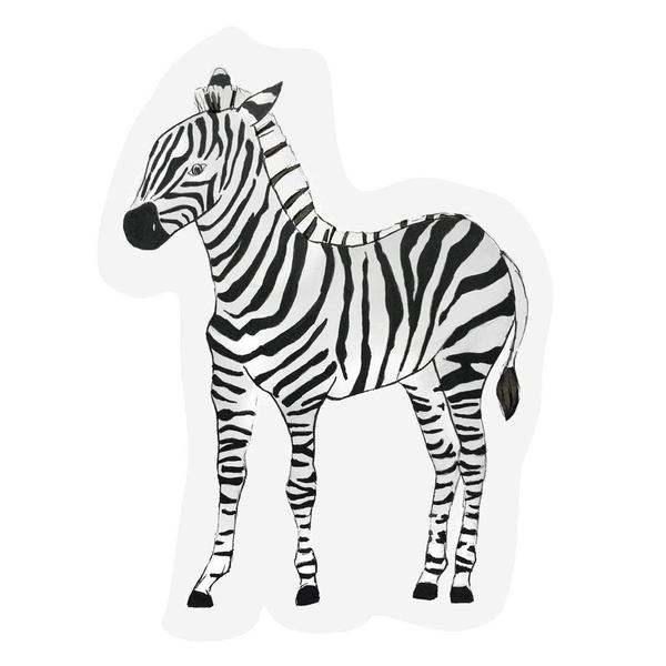 The Gift Label Cut Out Cards Zebra