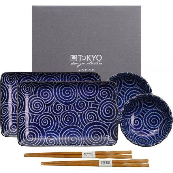 Tokyo Design Studio Kotobuki Sushi Servies model 2 - 6 stuks