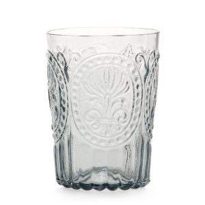 Van Verre Fleur De Lys Glas Grijs groot