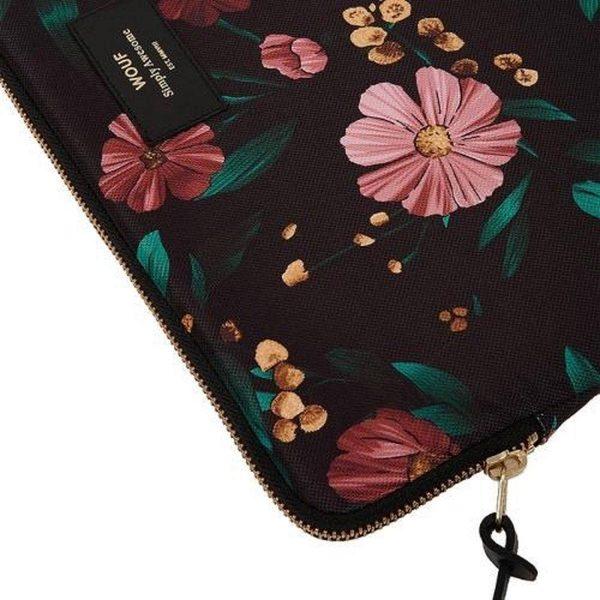 Black Flowers Laptophoes detail