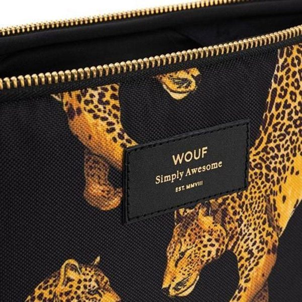 """Black Leopard Laptophoes 13"""" rits"""