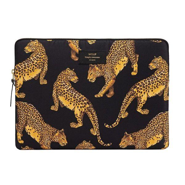 "WOUF Black Leopard Laptophoes 15"""
