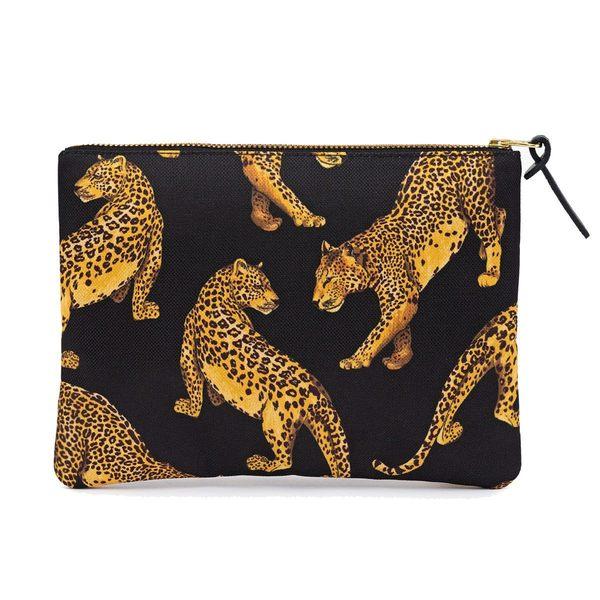 Black Leopard Large Pouch 2