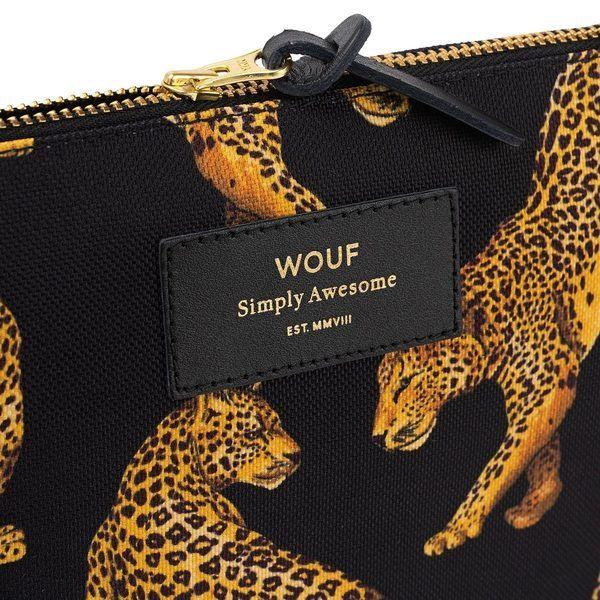 Black Leopard Large Pouch detail