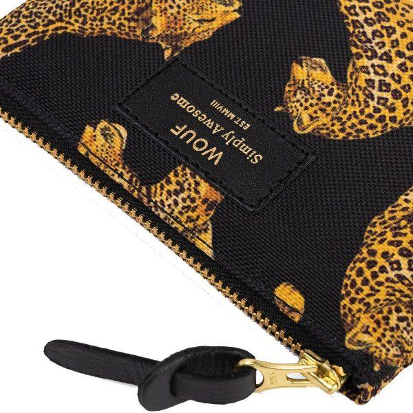 Wouf Black Leopard portemonnee 2