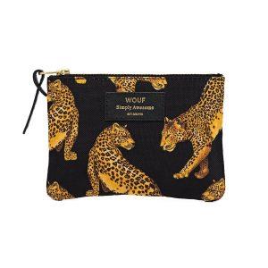Wouf Black Leopard portemonnee