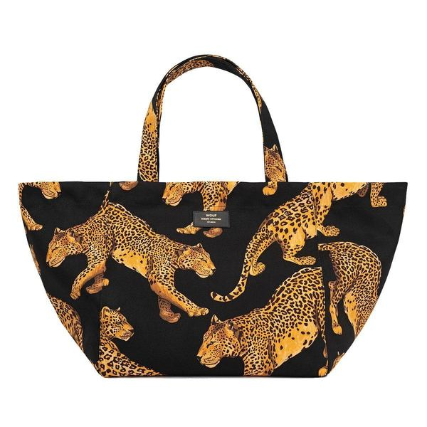 WOUF Black Leopard Totebag XL