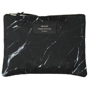 Wouf Clutch black marble 16x2cm