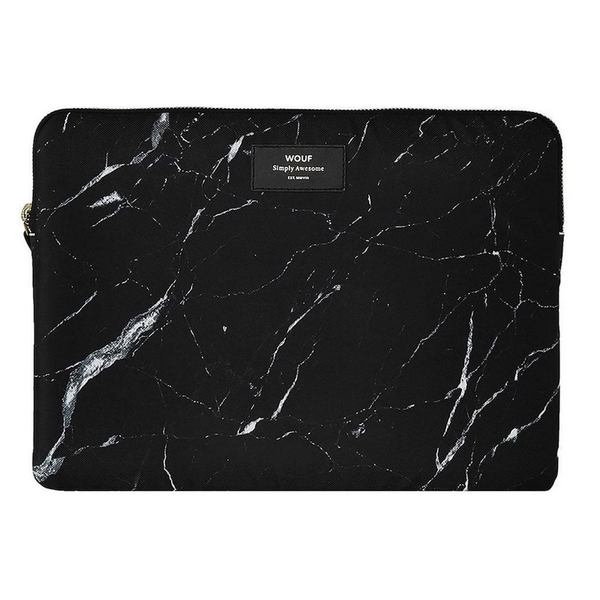 Wouf Zwart Marmer Laptophoes 13 inch