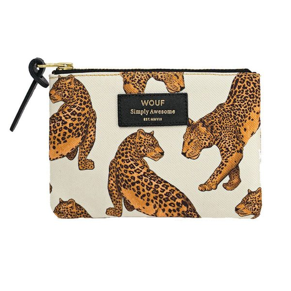wouf leopard portemonnee small