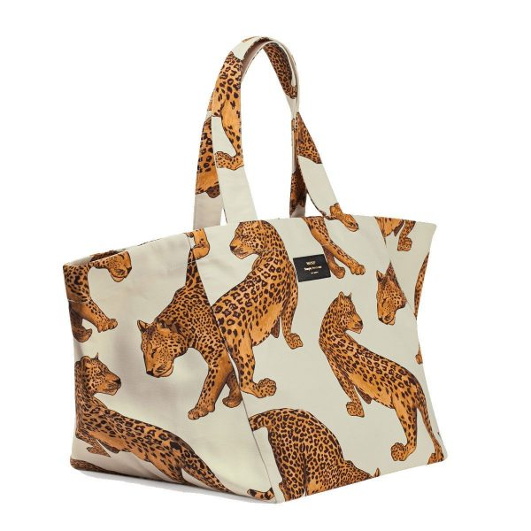 wouf leopard tote bag xl 2