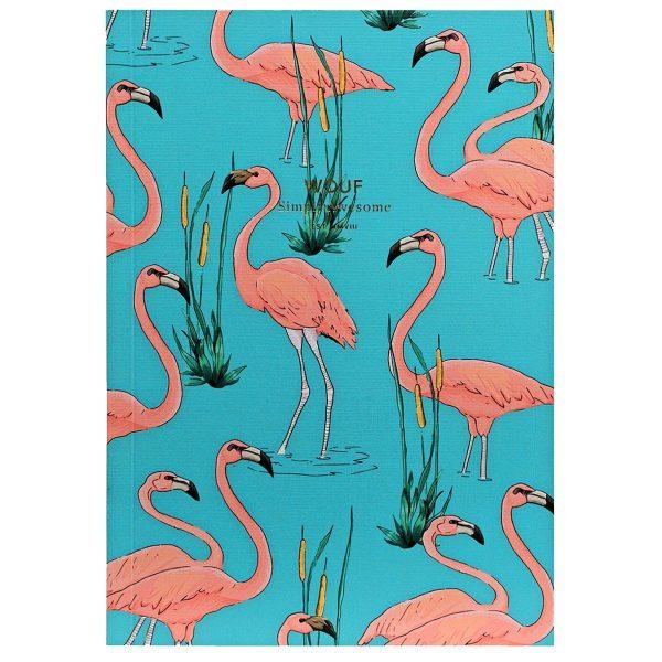 WOUF Pink Flamingo Notitieboek A5