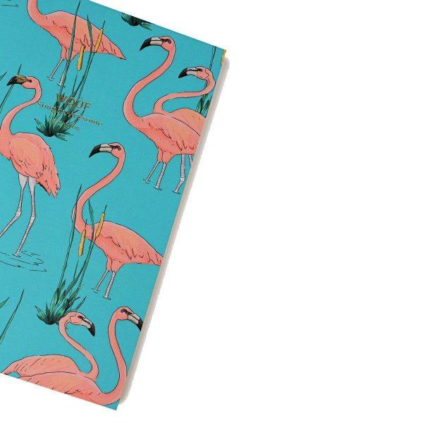 wouf notitieboekje pink flamingos a6 3