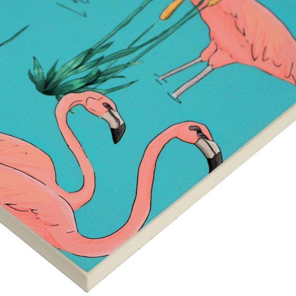 wouf notitieboekje pink flamingos a6 4