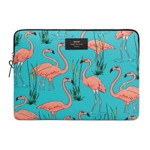 WOUF Pink Flamingos laptophoes 13 inch