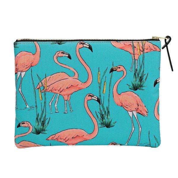 wouf pink flamingos make-up tas 2