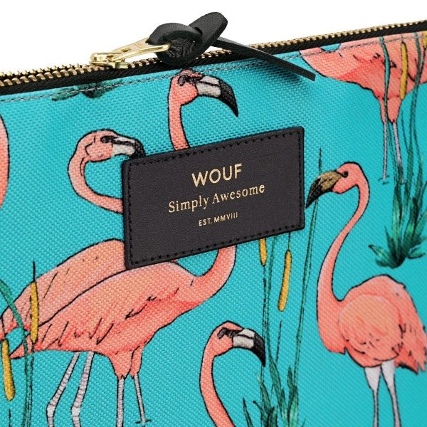 wouf pink flamingos make-up tas 3