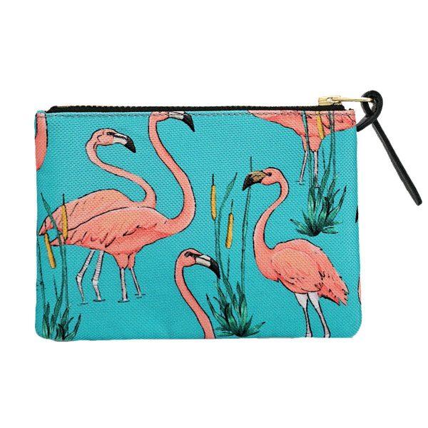 wouf pink flamingos portemonnee small 2