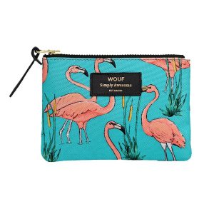 wouf pink flamingos portemonnee small