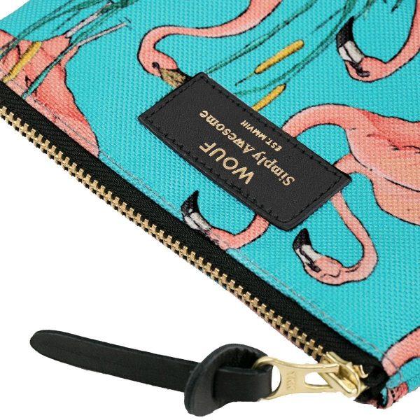 wouf pink flamingos portemonnee small 4