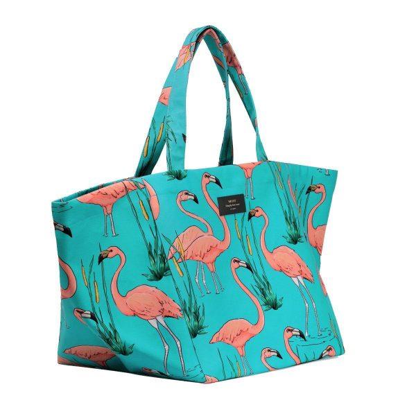 wouf pink flamingos tote bag xl 2
