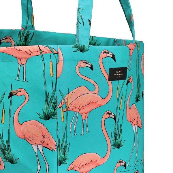 wouf pink flamingos tote bag xl 3