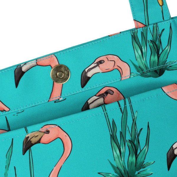 wouf pink flamingos tote bag xl 4