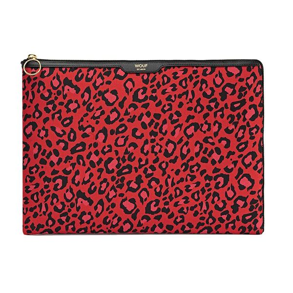 WOUF Red Leopard Laptophoes 13""