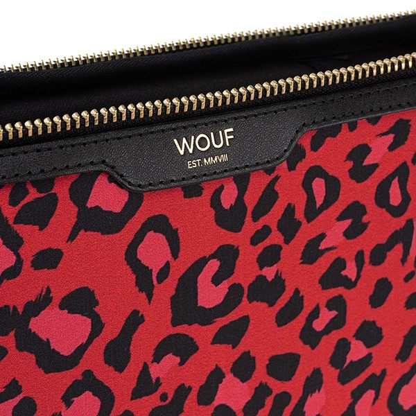 """WOUF Red Leopard Laptophoes 13"""" detail"""