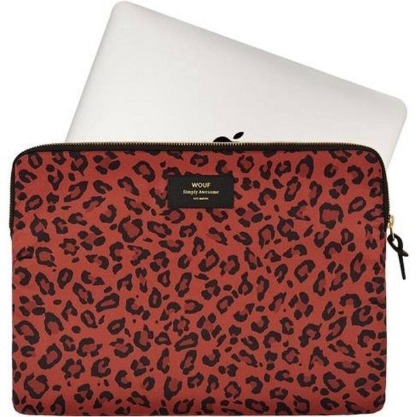 Red leopard laptophoes met pc