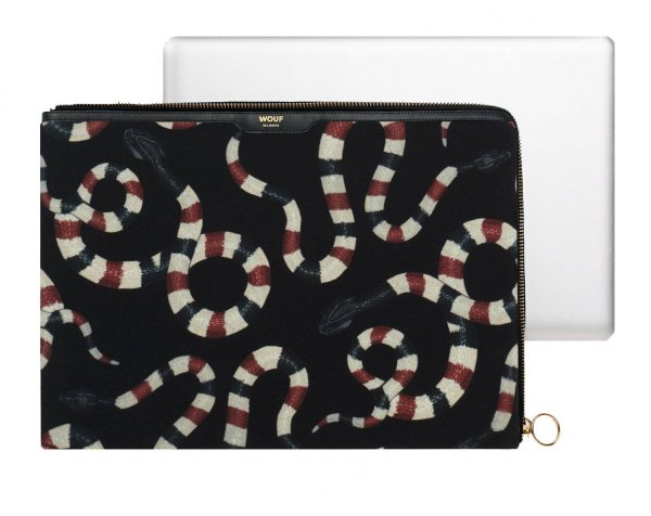 Wouf Snakes velvet laptophoes 13 inch 4