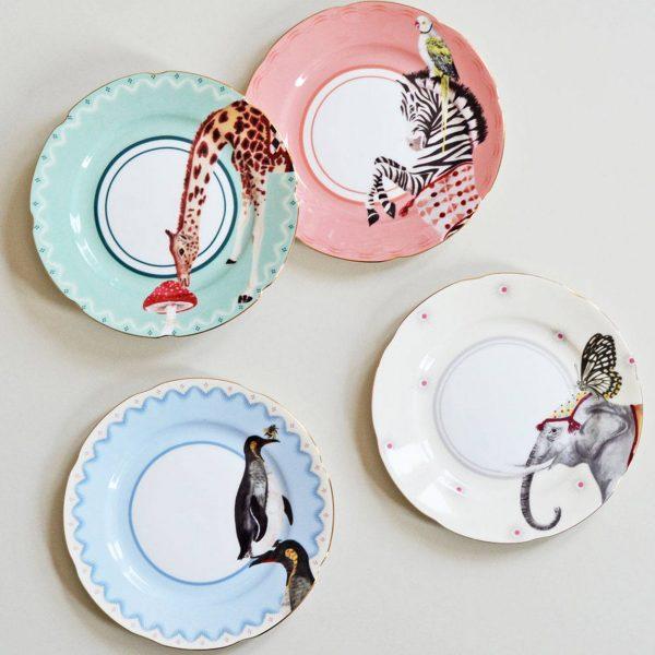 Yvonne Ellen Carnival Animal Cake Plates
