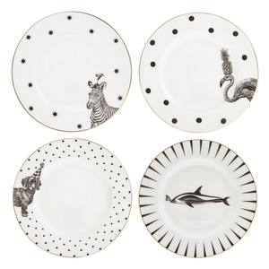 Yvonne Ellen mix Pack of 4 Side Plates Mono