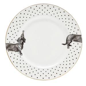 Yvonne Ellen Party Pup Dinner Plate Mono