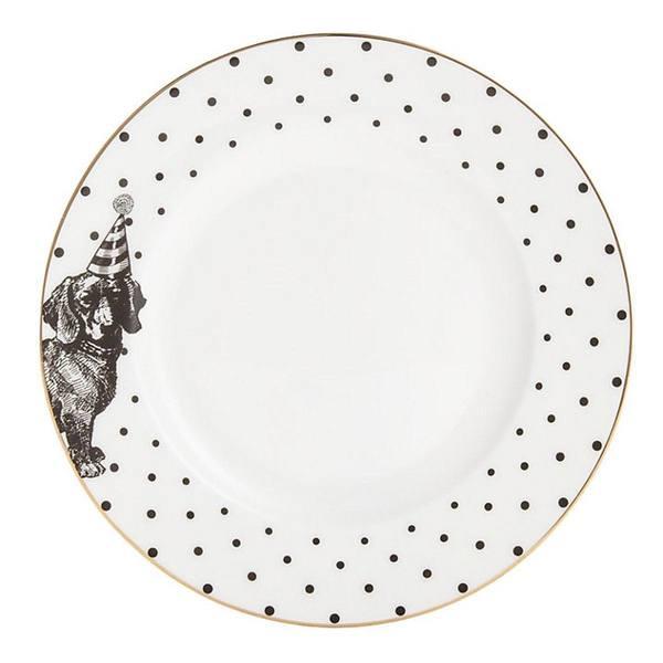 Yvonne Ellen Party Pup Side Plate Mono