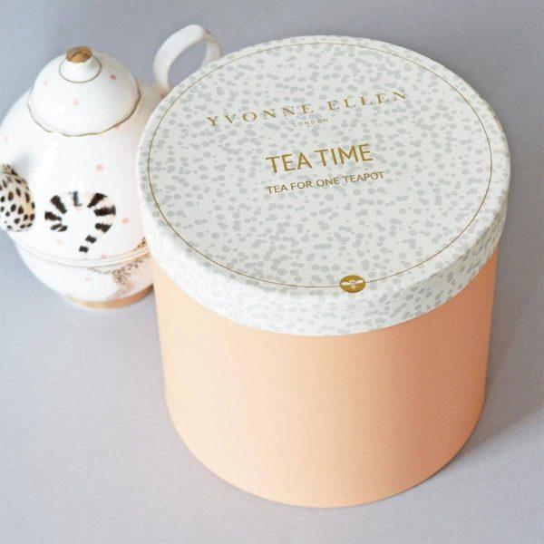 Yvonne Ellen Tea-For-One Theepot Cheetah geschenkdoos