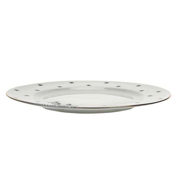 Yvonne Ellen Zebra Dinner Plate Monochroom zijkant