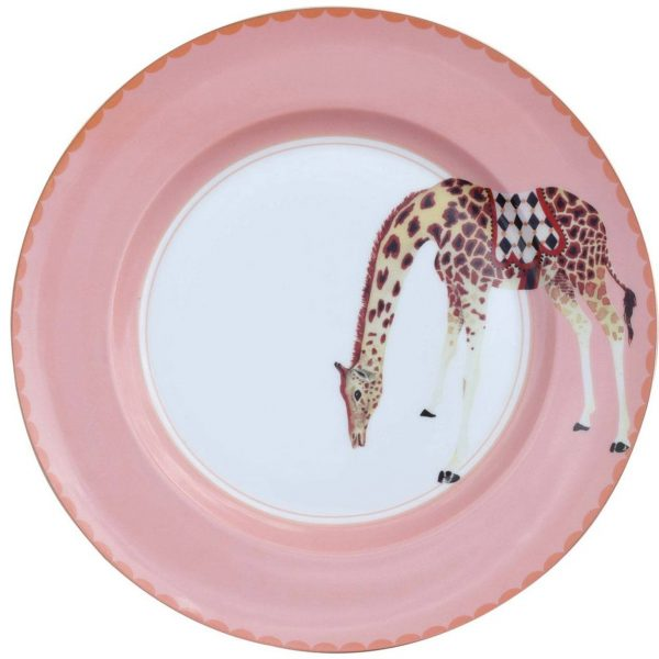 Yvonne Ellen Carnival Animal Diner bord giraffe